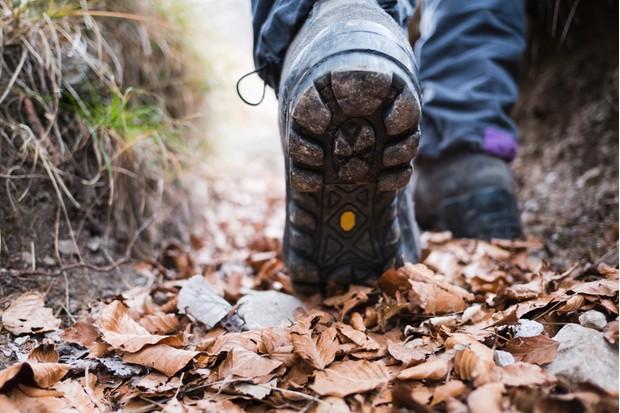 Mountain boot detail