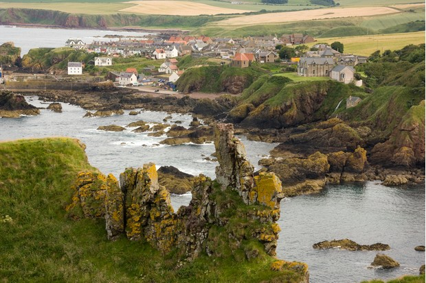 Coastal fishing village in Scotland