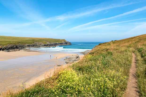 Beach And Cove At Porth Joke, Pentire In Cornwall, England, Britain, Uk. (Photo by: Education Images/UIG via Getty Images)