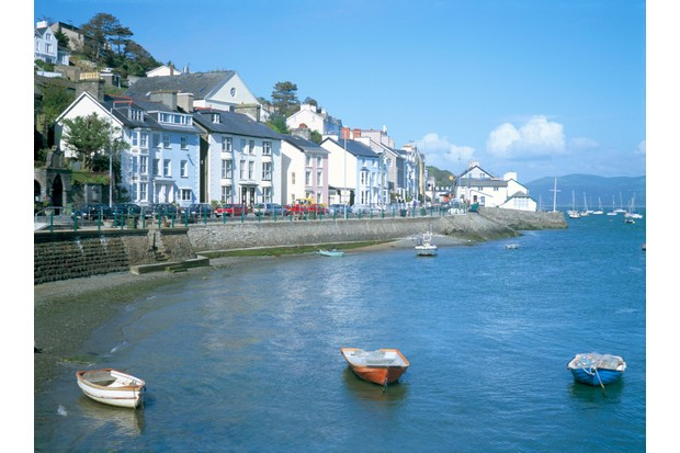Dovey Estuary and town, Aberdovey, Gwynedd