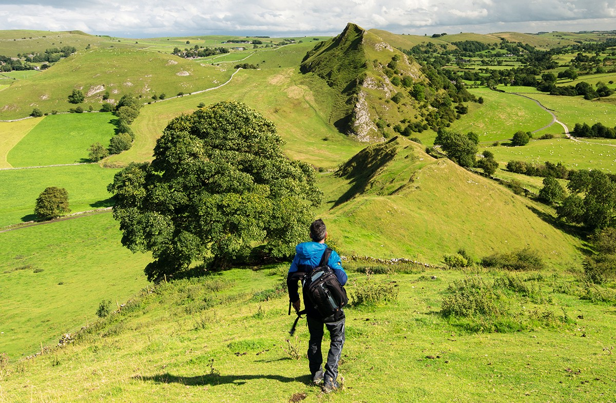 A walker at Parkhouse Hill and Chrome Hill