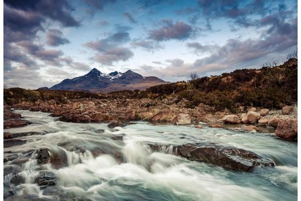 Ragging river beneath the Cuillin Range