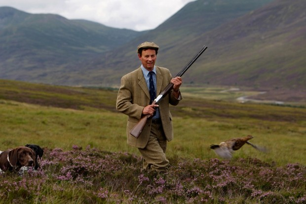 LONDON - AUGUST 08:  Ian McColl, director of the Game and Conservation Trust, watches a grouse on the Railia and Milton Estate near Dalwhinnie August 8, 2008 in Scotland. As the glorious 12th approaches it marks the start of the red grouse shooting season in Scotland.But with increasing pressure on grouse moor managers from ticks, disease, predation and unpredictable weather, the 2008 is unknown.    (Photo by Jeff J Mitchell/Getty Images)
