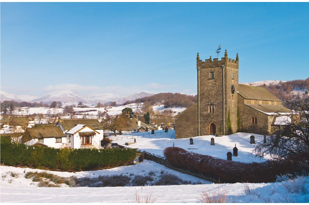 St Michael and All Angels Church in Hawkshead, where Wordsworth worshipped