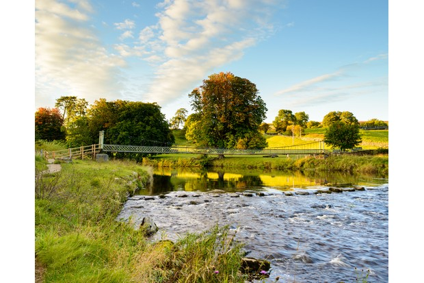 Suspension Bridge over the River Wharfe