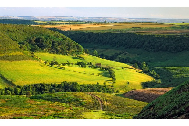 View across the Hole of Horcum in the North York Moors National Park