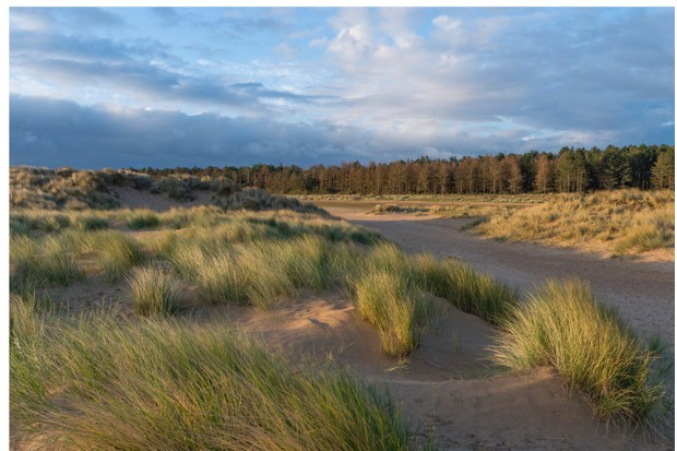 A view of Holkham Bay, Norfolk, England.