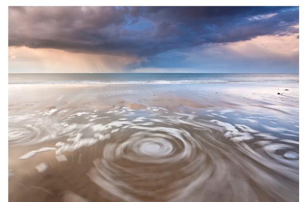 A storm rises over Horsey Beach