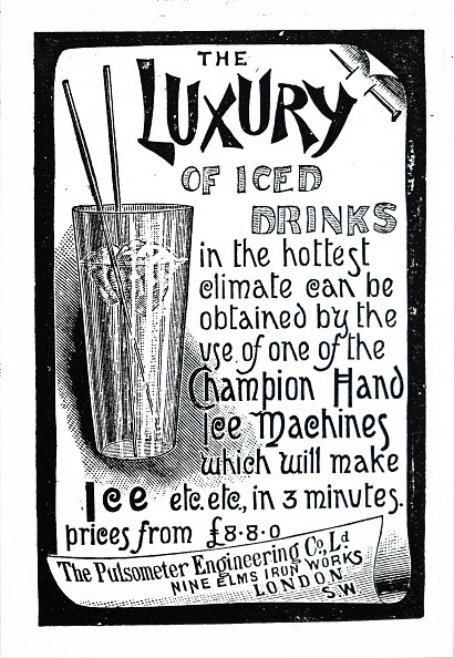 Advertisement for Champion Ice Machines. Dated 19th century. (Photo by: Universal History Archive/UIG via Getty Images)