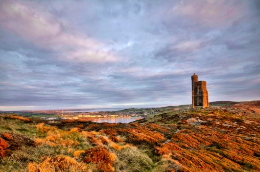 South - the Isle of Man with Milner Tower