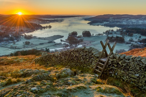 Sunset in the Lake District