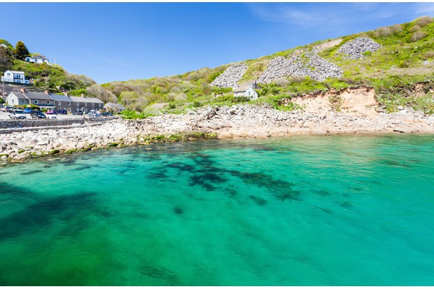 Sumers day at Lamorna Cove Cornwall England UK