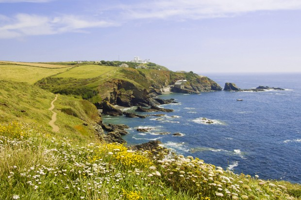 the coastal footpath lizard peninsula the cornish coast cornwall england uk