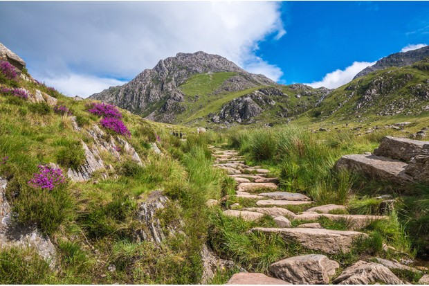The mountains around Llyn Idwal in northern Snowdonia