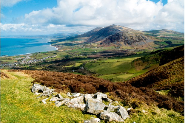 Looking north at Yr Eifl and the Llyn Peninsula