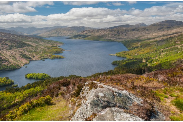 Loch Katrine from the summit of Ben A'an ©Getty