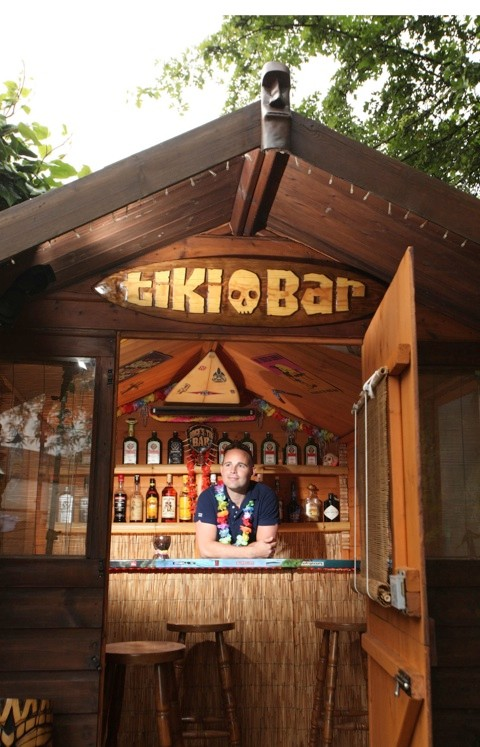 Stephen from Wakefield, a finalist for his Lodge's Tiki Bar in the pub category of the 2014 Shed of the Year competition sponsored by Cuprinol. The shed has been selected from over 2,000 entries by more than 20,000 public votes. The winner will be announced during Channel 4's Amazing Spaces: Shed of the Year series, to be aired over three episodes, starting on 24th July at 8pm. As well as the prestigious title, the winner will receive £1,000 courtesy of sponsors Cuprinol and a commemorative winners wooden plaque for their shed.