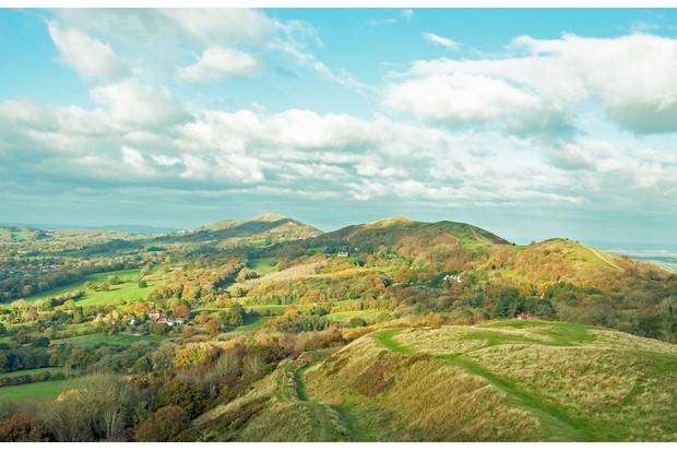 Looking north along the Malvern ridgeline ©Getty