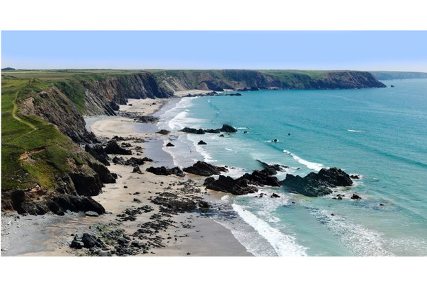 marloes sands beach and bay in the pembrokeshire coastal national park dyfed wales