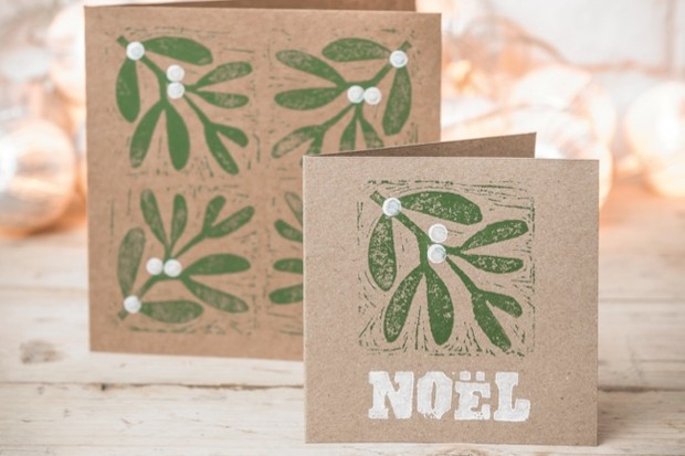 Christmas Crafts Make Your Own Mistletoe And Holly Block Print