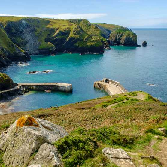 Mullion Cove, Lizard Peninsula, Cornwall, England, UK