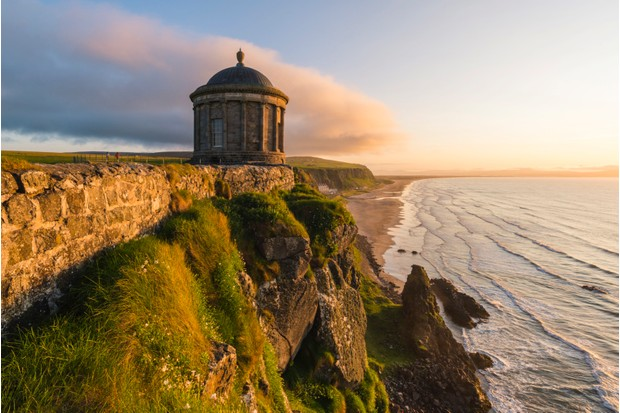 Mussenden temple, Castlerock, County Antrim, Ulster region, northern Ireland, United Kingdom.
