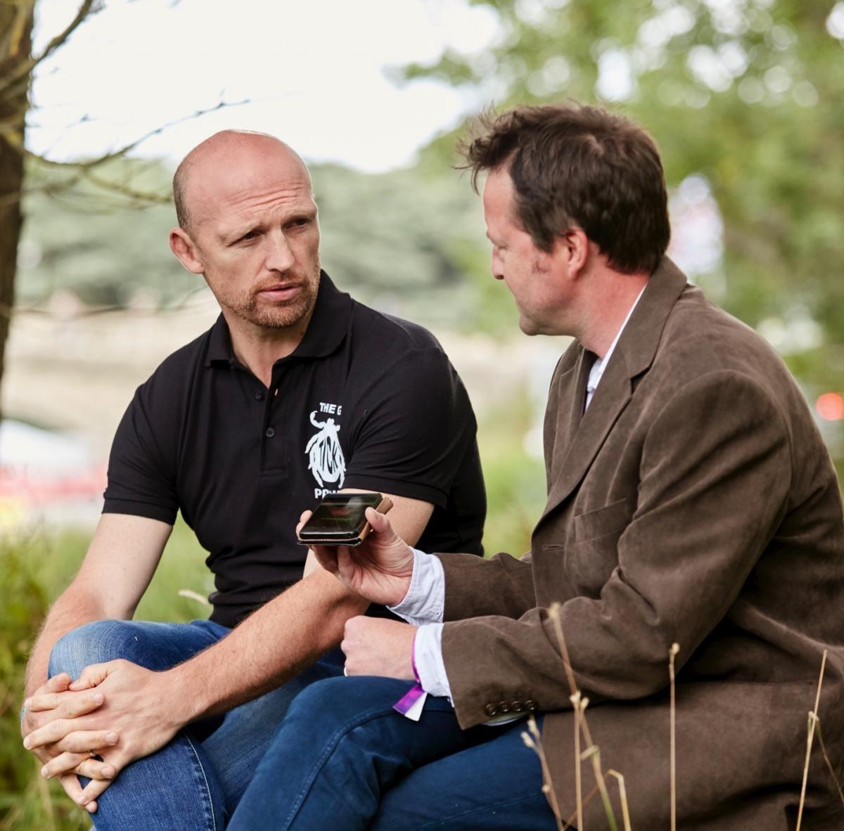 Matt Dawson talks to Fergus Collins/Credit: Oliver Edwards