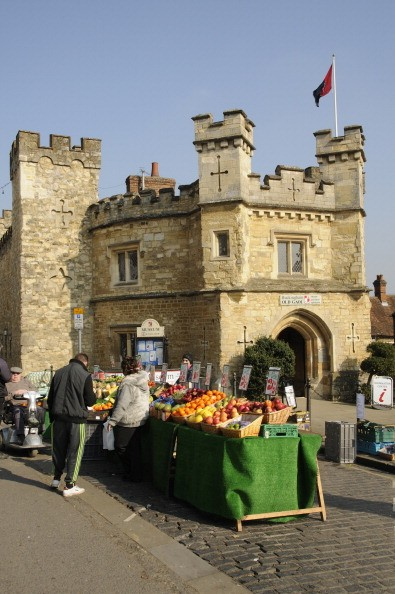 Selling fresh fruit & vegetables outside the Old Gaol in Buckingham Buckinghamshire England UK (Photo by: myLoupe/Universal Images Group via Getty Images)
