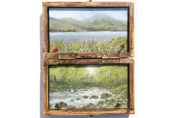 On20the20Fly2025x20cm20Oil20on20Panels20in20Reclaimed20Fly20Fishing20Box-8a8b2f0