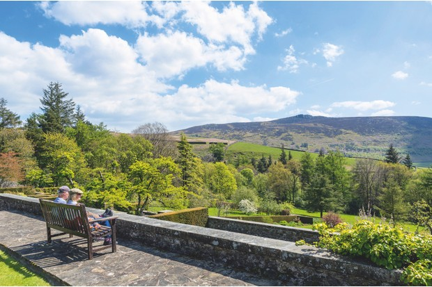 Views from the gardens stretch out over the southern hills of the Yorkshire Dales