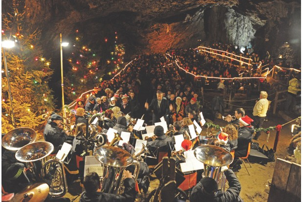 Throughout December, the sound of carols echoes from Peak Cavern