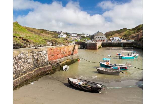 Porthgain Harbour Pembrokeshire Wales UK Europe