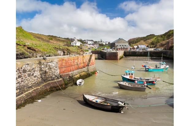 Porthgain Harbour Pembrokeshire Wales UK Europe