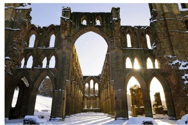Rievaulx Abbey in winter