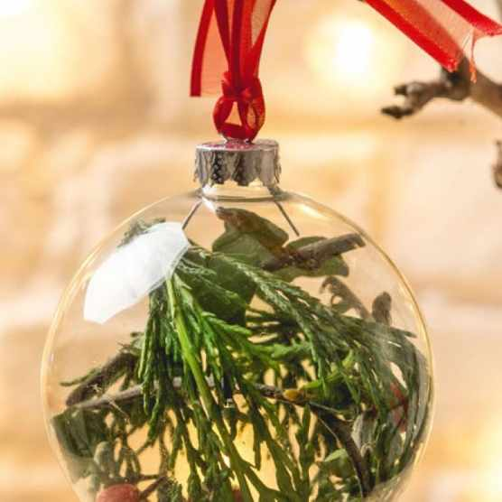 How to make a rustic Christmas bauble
