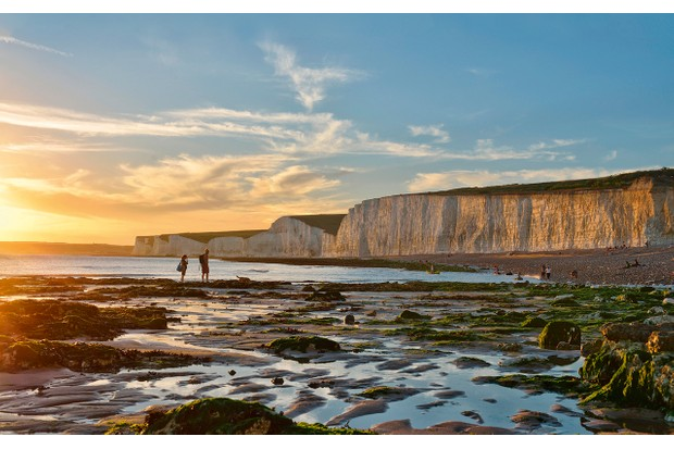 For many, these huge chalk cliffs are even more picturesque than the famous White Cliffs of Dover up the coast