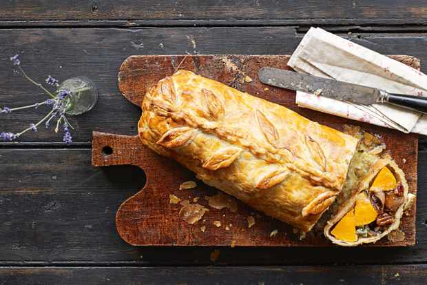 Butternut squash and blue cheese wellington (Photo by: BBC Good Food)
