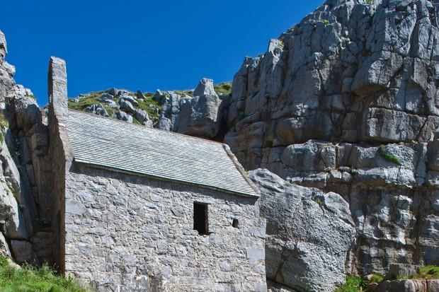 St Govan's Chapel, St Govan's, Pembrokeshire, Wales, UK