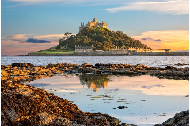 St Michael's Mount at sunset