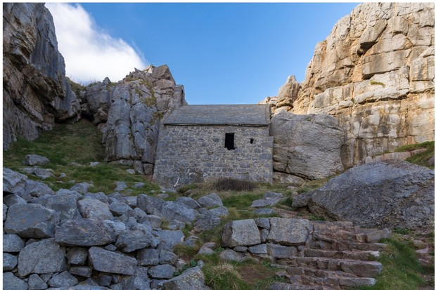 Saint Govan's Chapel, near Bosherston, Pembrokeshire, Wales, UK