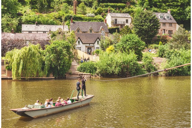 Symonds Yat and ferry, River Wye