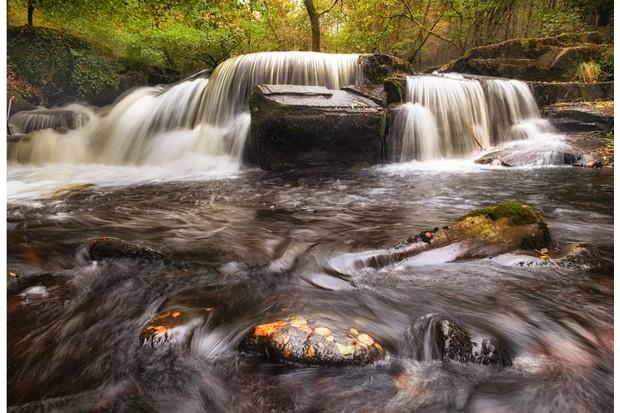 Taf Fechan Forest waterfall