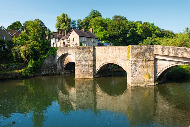 Ludford Bridge over the River Teme, Ludlow, Shropshire, England