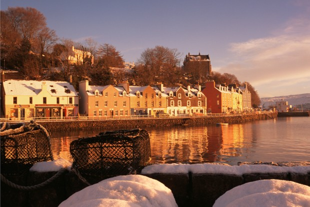 The town of Tobermory – built as a fishing port in 1788 – accounts for one third of Mull's population