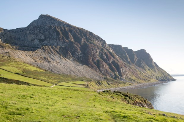 Mountain Peaks and Coastline, Trefor; Caernarfon; Wales; UK