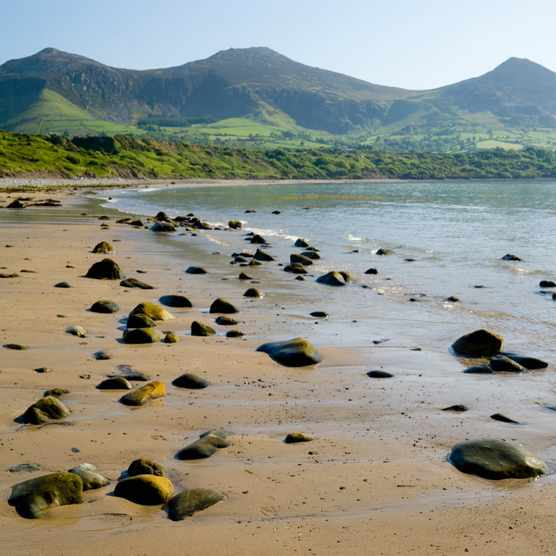 Yr Eifl Mountains from Tan Y Graig beach