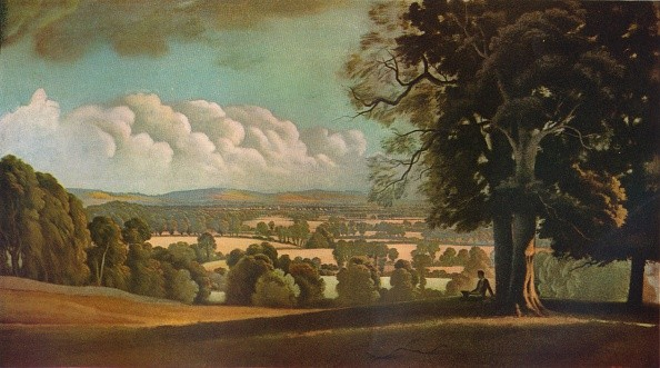 'The Vale of Aylesbury', 1933. This painting was used by Shell in the 1930s for an advertsing campaign. Painting housed at Upton House. From The Studio Volume 108. [The Offices of the Studio, London, 1934]  (Photo by The Print Collector/Getty Images)