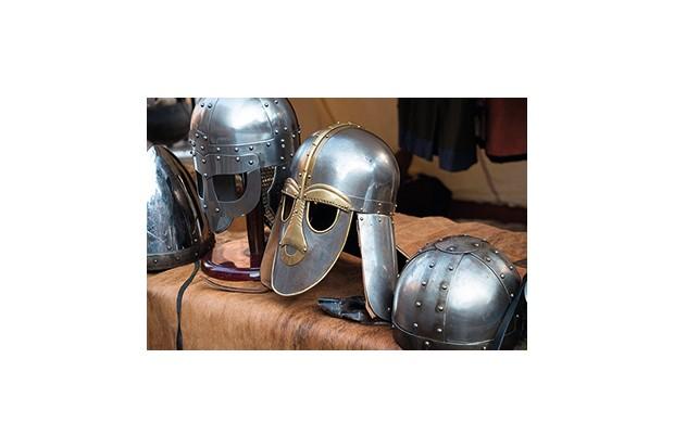 D45Y36 Viking helmets near Jorvik Museum