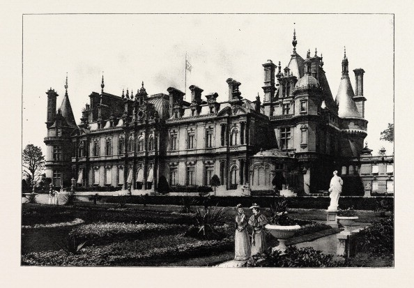 Waddesdon Manor, The Country Seat Of Baron Ferdinand De Rothschild, Engraving 1890, UK, U.k., Britain, British, Europe, United Kingdom, Great Britain, European . (Photo by: Universal History Archive/UIG via Getty Images)