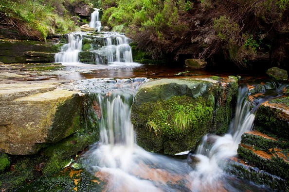 Black Clough Falls running off of Bleaklow in the Peak District National Park. (Photo by: Loop Images/UIG via Getty Images)
